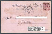 VERCELLI CITTÀ 93b FAZZOLETTI - TELERIE Cartolina COMMERCIALE viaggiata 1904