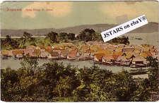 c. 1910 SINGAPORE, MALAY VILLAGE ST. JAMES POSTCARD