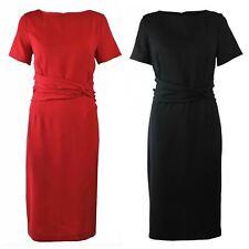 Linea Crepe Ruched Waist Dress Ladies NEW