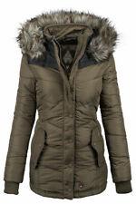 Khujo Winsen warme Damen Winter Jacke gefütterte Winterjacke Parka gesteppt B263