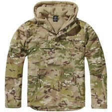 Brandit Windbreaker Army Jacket Mens Camping Travel Hooded Hunting Tactical Camo