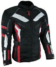 Enduro Touren Motorrad Jacke Motorradjacke Textil schwarz rot Gr.M - 3XL