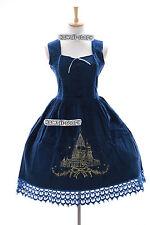 JL-558 Blau Victorian Samt Gothic Lolita Cosplay Kleid Kostüm dress