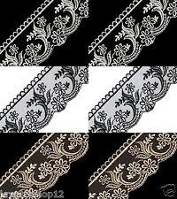 1 m Spitzenborte 10 cm Spitze Borte Band Spitzenband Zierband bestickt 1360
