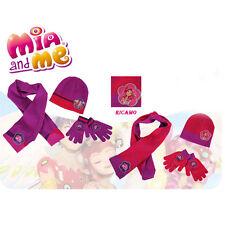 MIA E ME set sciarpa+guanti+cappello in morbida lana due fantasie da bambina