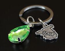 Spain Keychain, Spain Key chain, Spain Pendant, Spanish Teacher, Spain Map