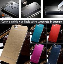 CUSTODIA BACK COVER SLIM ALLUMINIO CELLUAL IPHONE 4S PIU OMAGGIO VETRO TEMPERATO