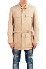 Malo Beige Full Zip Men's Basic Coat Sz M 2XL