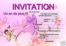 De si jolies choses ebay stores 5 or 12 birthday invitation cards violetta ref 287 stopboris Gallery