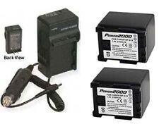 TWO BP-819 Batteries + Charger for Canon HF10 HF100 HF11 HF20 HF200 HF21 HG20
