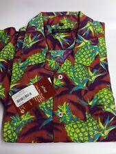 Nuevo Para Hombre Hawaii Jac Tissot Mangas Cortas Camisa Algodón 100% Venta