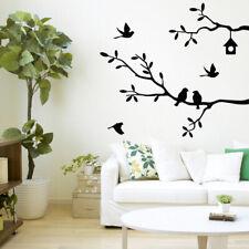 Art Bird Tree Branch Wall Stickers Window Decal Nursery Room Mural Decor 68*62cm