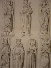 Gravure Monuments de HENRI II et Richard Coeur de Lion