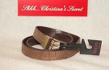 GUESS ~)) NEW (( Reversible Plain Brown & Copper/Brown Croc Embossed Belt $39.50