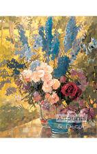 Buntes Blumenmuster von Anna Gasteiger (Kunstdruck von Vintage Kunst)