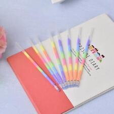 20 Pcs Multi Color Rainbow Highlighters Gel Pens pen paint fluorescent Refi T5A0