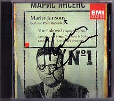 Mariss JANSONS Signed SHOSTAKOVICH Symphony No.1 Piano Concerto MIKHAIL RUDY CD