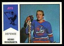 1974 75 OPC O PEE CHEE  WHA #31 HEIKKI RIIHIRANTA RC WINNIPEG JETS HOCKEY CARD