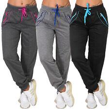 Jogging Hose bunter Reißverschluss Trainingshose Sporthose Fitness Taschen lang