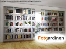 """Fotogardinen """"Bücherregal"""" Vorhang mit Motiv, 3D Fotodruck, Fotovorhang, auf Maß"""