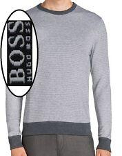 NWT Hugo Boss Black Label By Hugo Boss Slim Fit Sweater Microstripe Sweatshirt