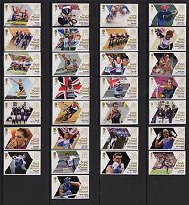 Singolare di Giochi Olimpici 2012 Medaglia d'Oro Vincitori-menta francobolli SG 3342 - 3370