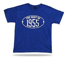 Printed T shirt tee The best of 1955 happy birthday present gift idea unisex