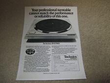 Technics SP-10 Mk II Ad, 1975, Article, Info, 1 pg