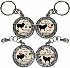 Finnish Lapphund Dog Key Ring Key Chain Purse Charm Zipper Pull Handmade #2