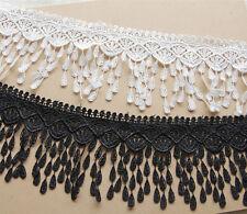 1 Yard,Tassel Lace Trim Crochet Ribbon Embroidered Sewing Applique Ribbon FL62