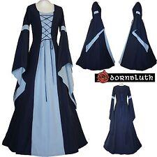 Mittelalter Gewand Kleid Johanna Marine-Hellblau  XS M L XL XXL 56 58 60