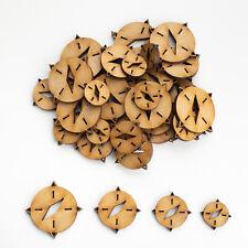 Wooden MDF Shapes Compass Craft Scrapbook Embellishments Card Decoration supplie