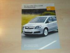 21755) Opel Zafira 1.6 CNG Prospekt 2005