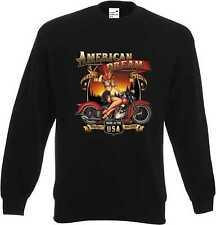Sweatshirt schwarz V Twin HD Biker Chopper&Old Schoolmotiv Modell American Dream