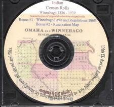Winnebago Indian Census Rolls 1886-1939