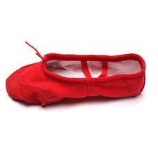 Kids Girls Women Dance Shoes Yoga Ballet Canvas Leather Sole Soft Elegant