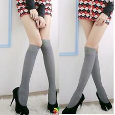 Spandex Knee High Socks Stockings Striped School Office Sexy Women Fashion Cute