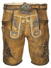 Herren Trachten Lederhose In Hellbraun Inkl. Trachten Gürtel Größe 44 Bis 56