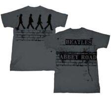 Adult Charcoal Gray The Beatles Band Brick Road Walking Abbey Road T-shirt Tee