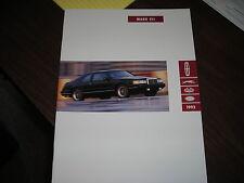 1992 Lincoln Mark VII Sales Catalog
