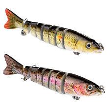 """6 """"multi-jointed 8-segment Pike leurre de pêche Swimbait Crankbait Dur Bait"""