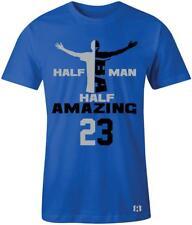 """Half Man Half Amazing"" T-Shirt to Match Air Retro 5  ""Blue Suede"" Flight Suit"