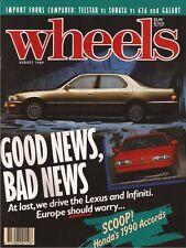Wheels Aug 89 RX7 Turbo 964 911 W124 300TE BMW Z1  NEWS Scoop: 1990 Honda Accord