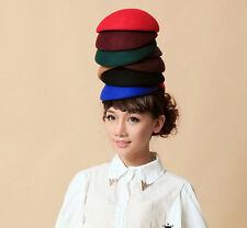 7 color cute Wool Felt Pillbox Hat Millinery TearDrop Fascinator Base Party