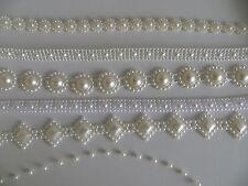 Saree Pearl Look nastro Craft in pizzo da cucire Decorazione Matrimonio ricamo Trim fai da te