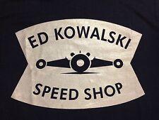 *ED KOWALSKI SPEED SHOP BONNEVILLE SALT FLATS FLATHEAD SHIRT HOT ROD SCTA  DRAGS