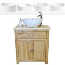 Bathroom Vanity Unit Oak Cabinet Wash Stand Golden Onyx Top & Ceramic Basin 502