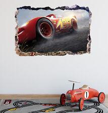 Cars 3 Lightning Mcqueen Smashed 3D Wall Decal Sticker Art Decor Vinyl DA127