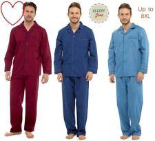 Mens Pyjamas Sets Nightwear Classic Plain PJs