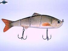 Leurre poisson nageur articulé Live Real Shad 120S pêche brochet sandre bass bar
